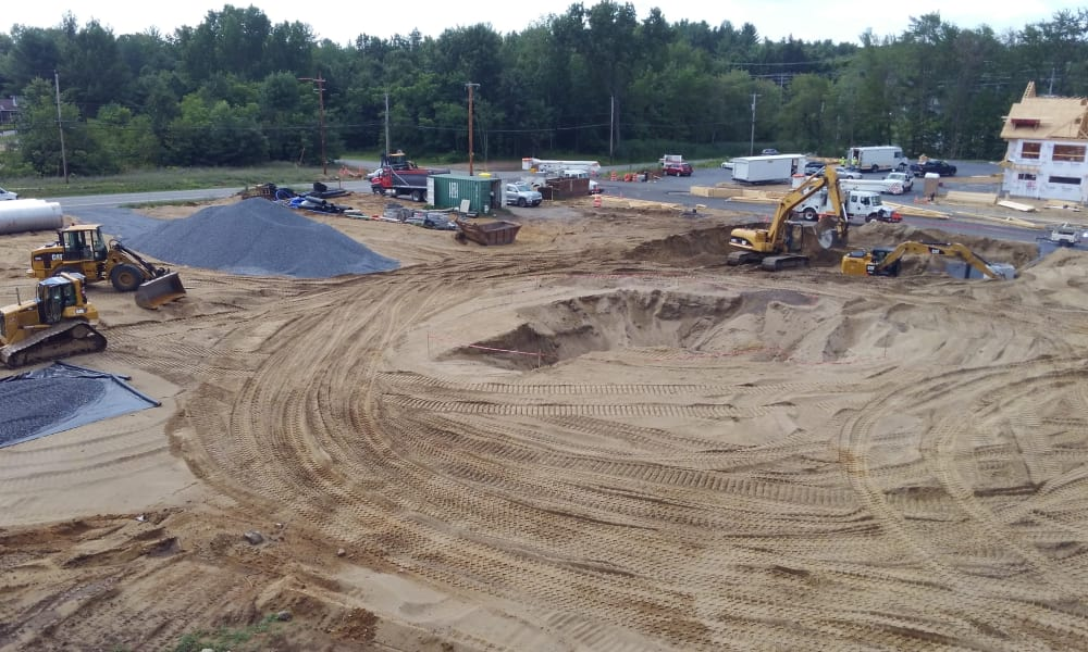 Another of the streets under construction at Enclave 50 in Ballston Spa, New York