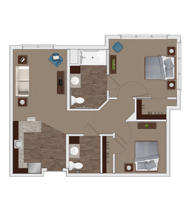 Two Bedroom Personal Care Apartment at Stonecrest of Louisville