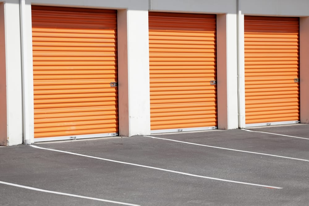 Outdoor storage units at Wheeler Road Self Storage in Augusta, Georgia