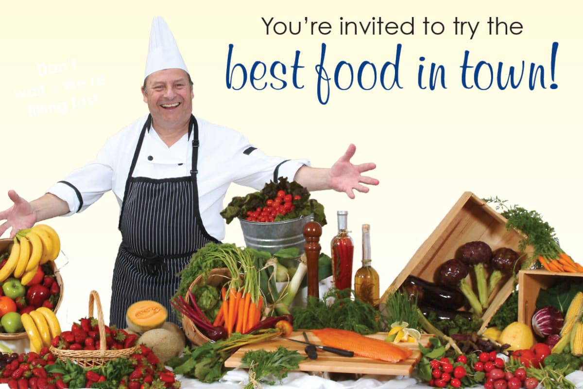 Food preparation services at The Savoy Gracious Retirement Living in Winter Springs, Florida