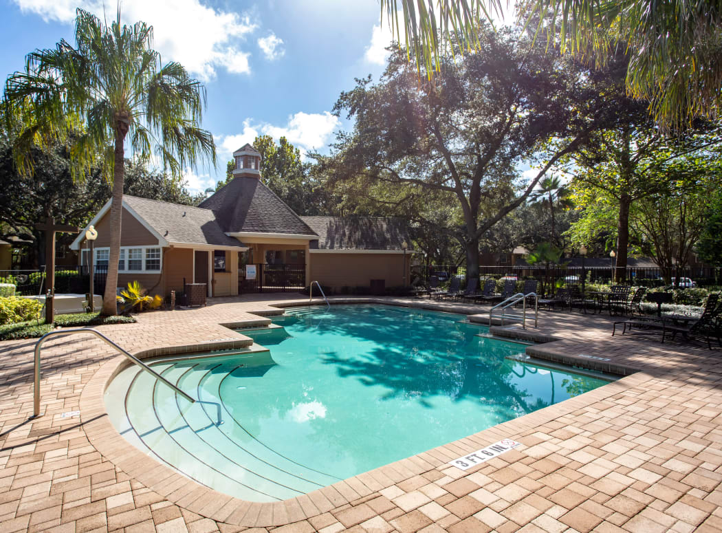Beautiful swimming pool at IMT Newport Colony in Casselberry, Florida