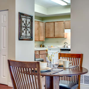 Resident apartment dining room at The Spring at Silverton in Fort Worth, Texas
