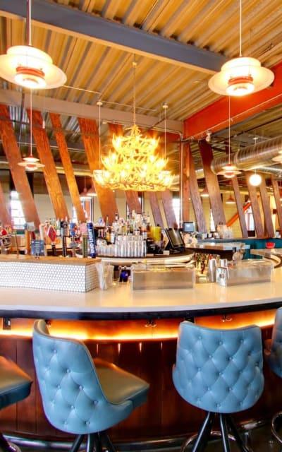 Punch Bowl social club in Denver, Colorado near Solana Stapleton Apartments