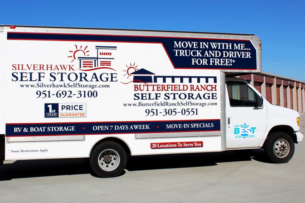 FREE move-in truck with driver at Silverhawk Self Storage