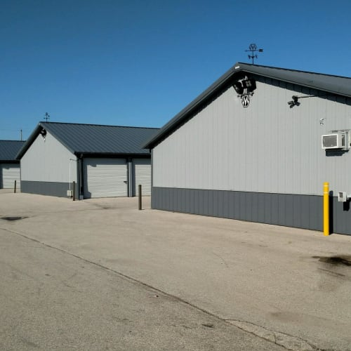 Storage buildings at Red Dot Storage in Milwaukee, Wisconsin