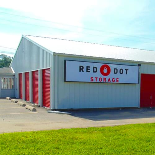 Building with storage units at Red Dot Storage in Mobile, Alabama