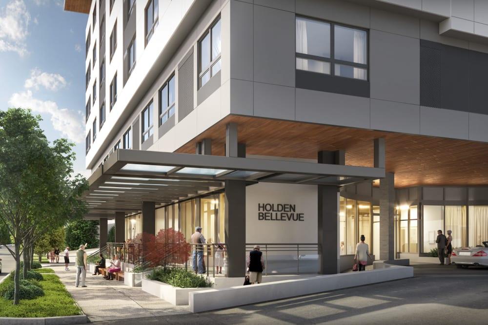 Front door at Holden of Bellevue in Bellevue, Washington