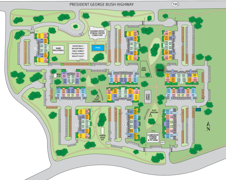 Site map for Estates of Richardson in Richardson, Texas