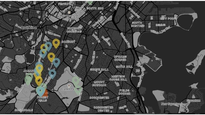 Neighborhood map.
