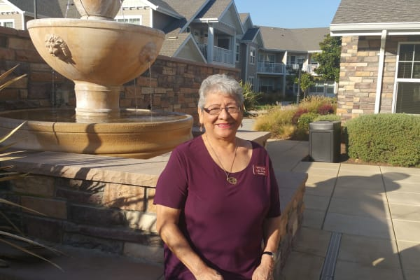 Resident Lydia Perez at Ashton Gardens Gracious Retirement Living in Portland, Maine