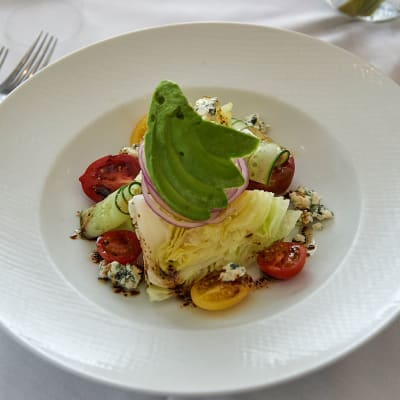 A chef-created salad from the freshest ingredients at The Chamberlin in Hampton, Virginia