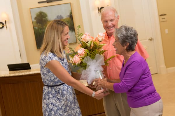 Concierge services are offered at Assisted Living community Rittenhouse Village in Michigan City