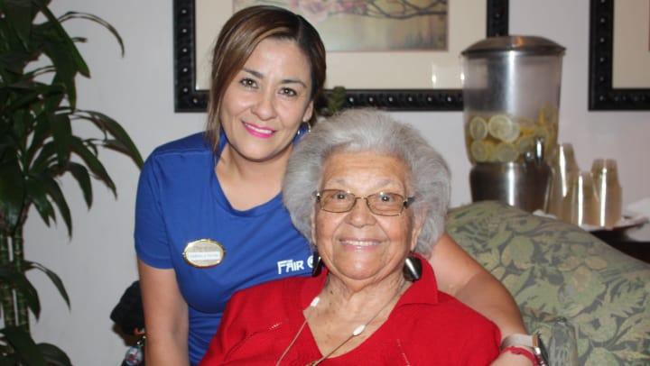 Regency Park Senior Living Resident and Caregiver