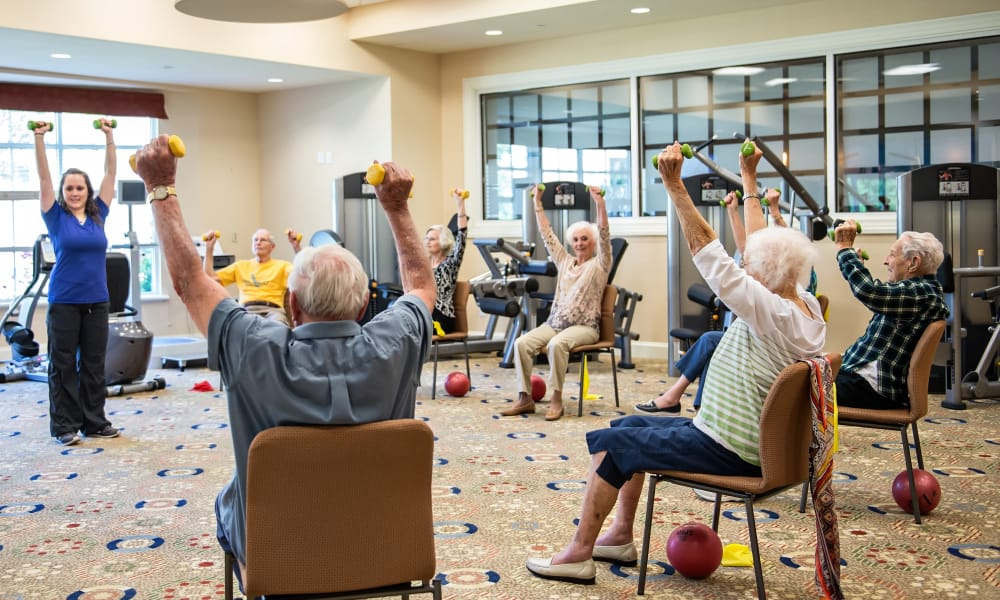 Exercise classes at Azalea Estates of New Iberia in New Iberia, Louisiana.