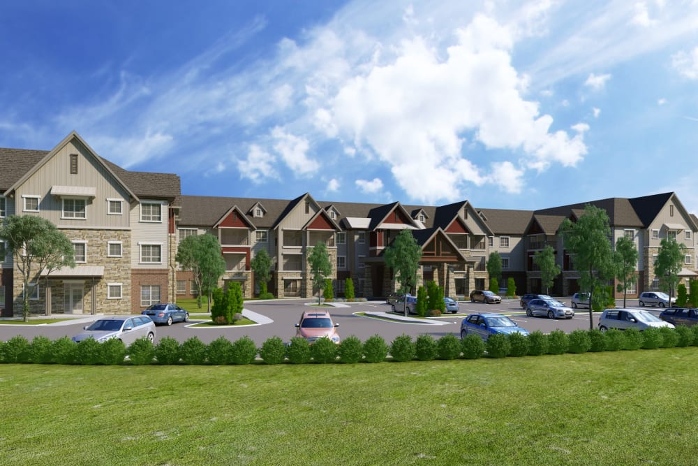 Architectural rendering of exterior at Harmony at Bellevue in Nashville, Tennessee