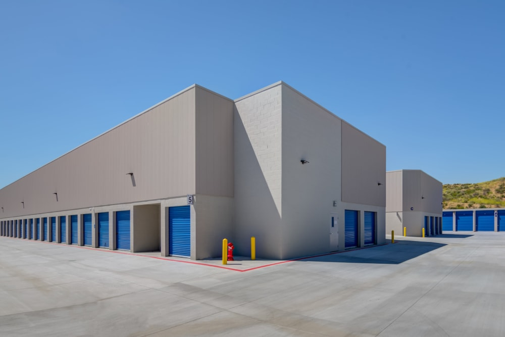 Wide drive aisles at Silverhawk Self Storage