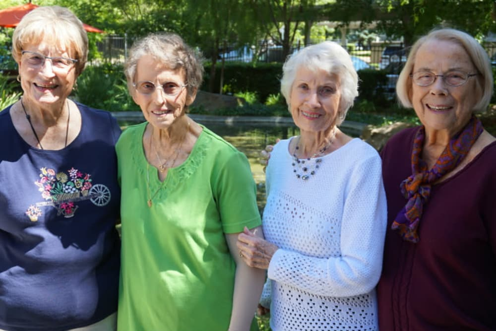 Residents enjoying an event at Campus Commons Senior Living in Sacramento, California