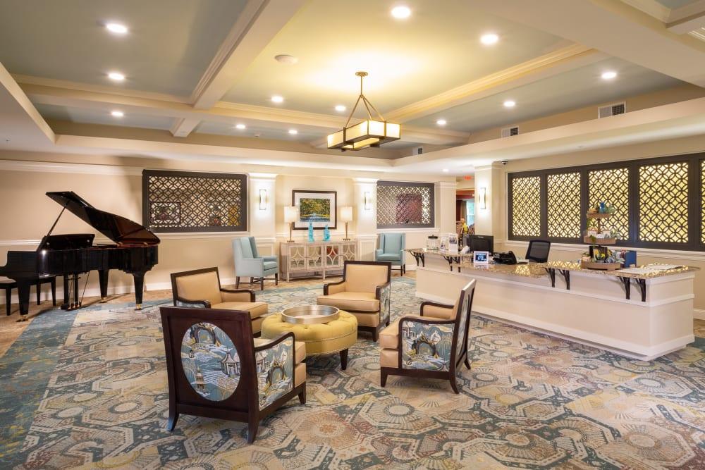 Lobby at Harmony at Savannah in Savannah, Georgia