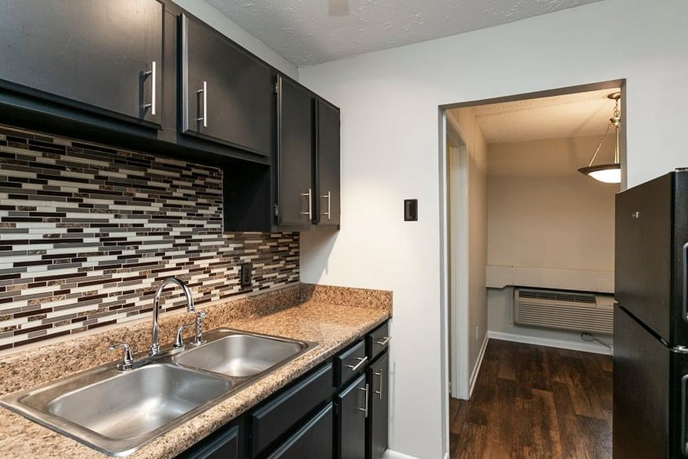 Kitchen model at Candlewood Apartments in Nashville, Tennessee