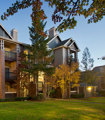 Beautiful contemporary exterior at Cortland Village Apartment Homes in Hillsboro, Oregon