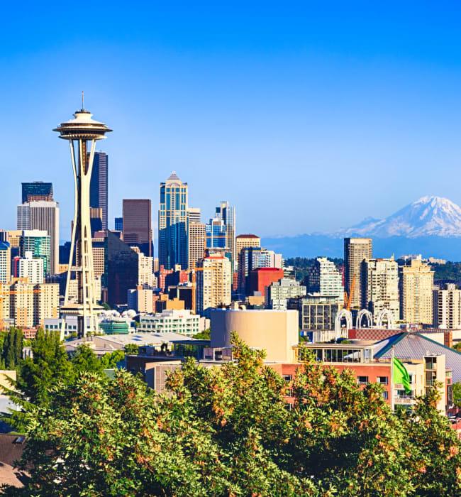 Space needle near Anthem on 12th in Seattle, Washington