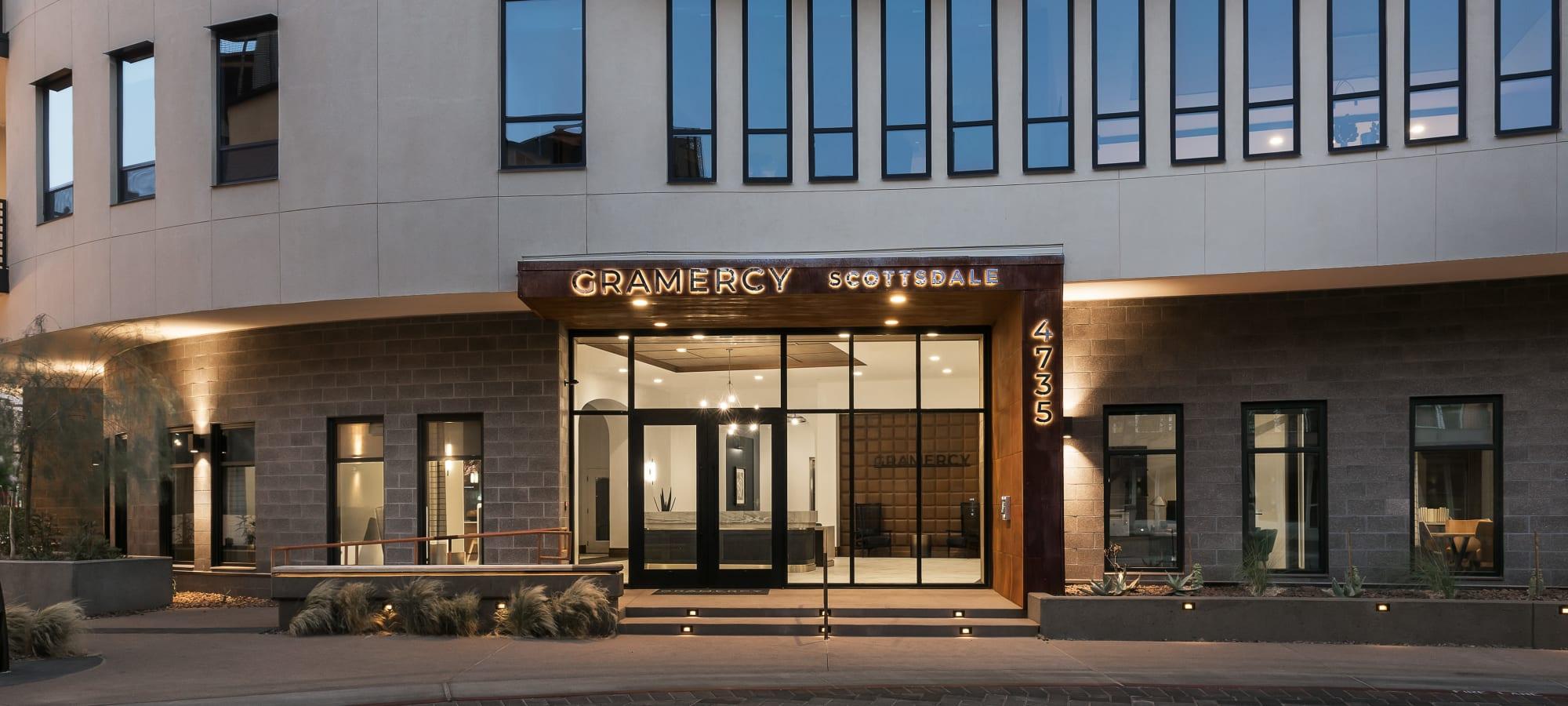 Entrance to Gramercy Scottsdale in Scottsdale, Arizona