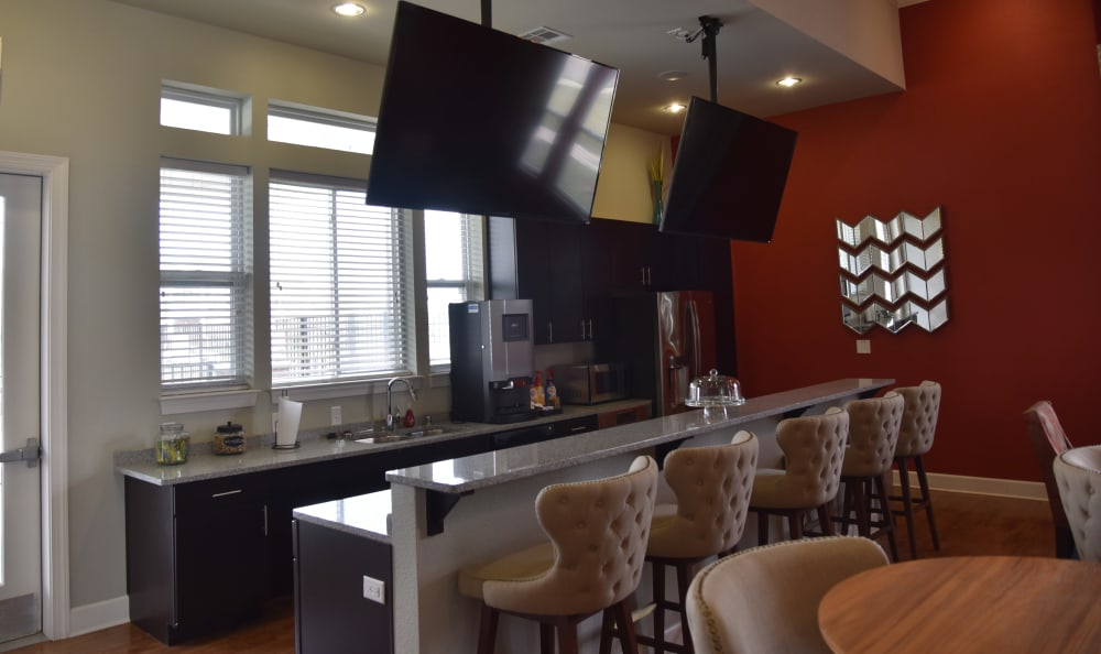 Clubhouse interior at Springs at Liberty Township Apartments in Liberty Township