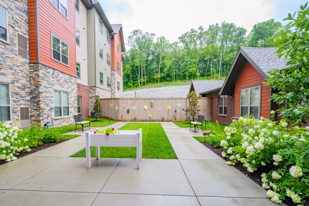 Beautiful outdoor space at Harmony at Brentwood in Brentwood, Tennessee