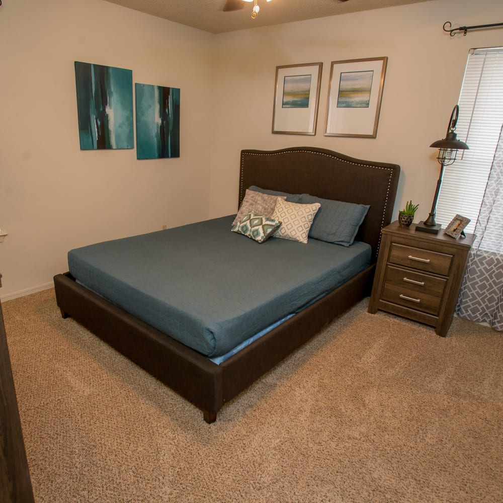 Bedroom at Polo Run Apartments in Tulsa, Oklahoma