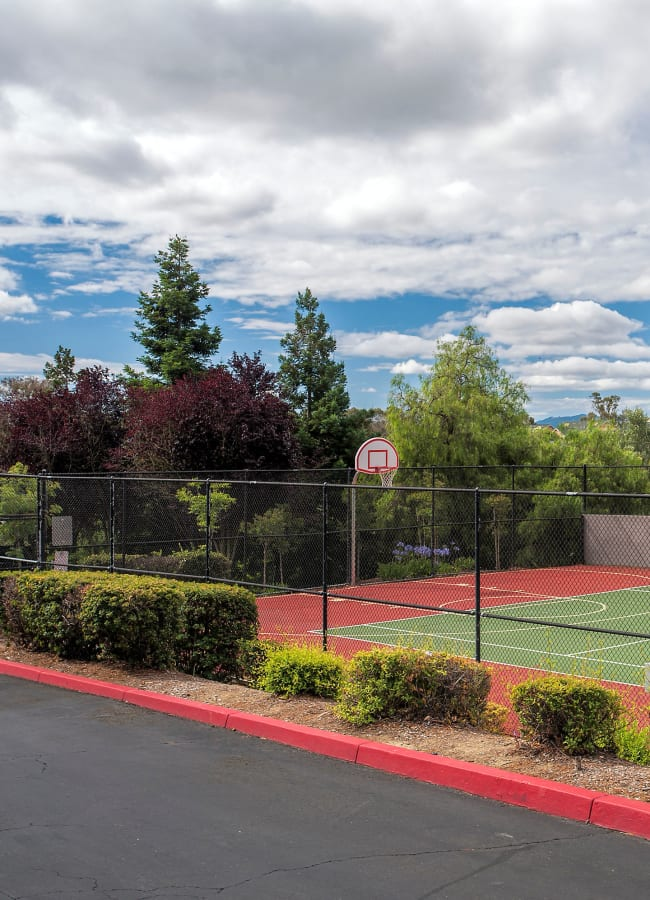 Well-maintained basketball court at Sterling Heights Apartment Homes in Benicia, California