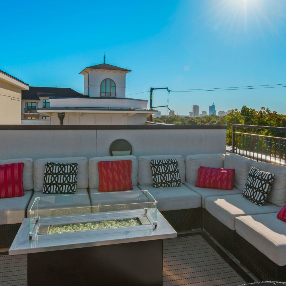 Rooftop terrace at 401 Oberlin in Raleigh, North Carolina