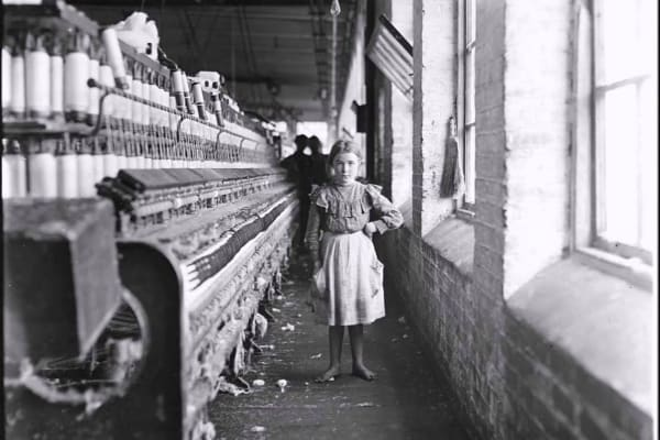 Historic onsite photo of a child at Porterdale Mill Lofts in Porterdale, Georgia