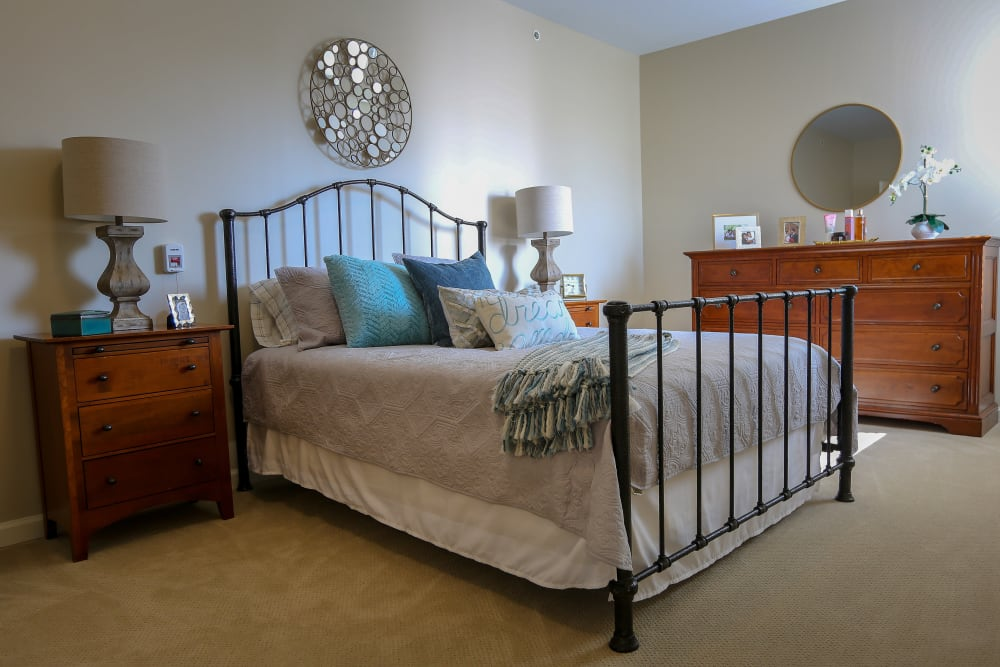 A large bedroom at Harmony at Martinsburg in Martinsburg, West Virginia
