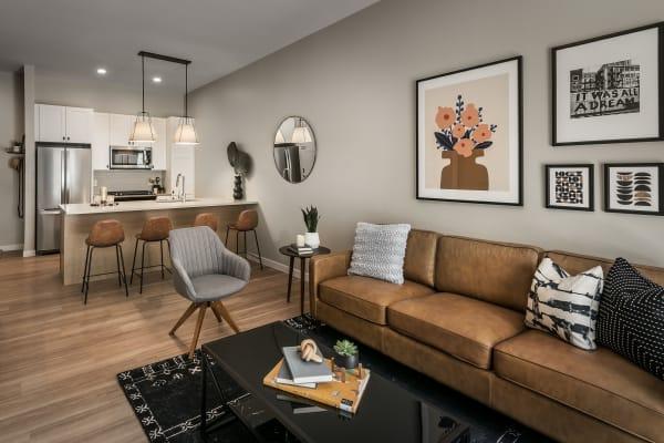 Bright, spacious living area at Gramercy Scottsdale in Scottsdale, Arizona