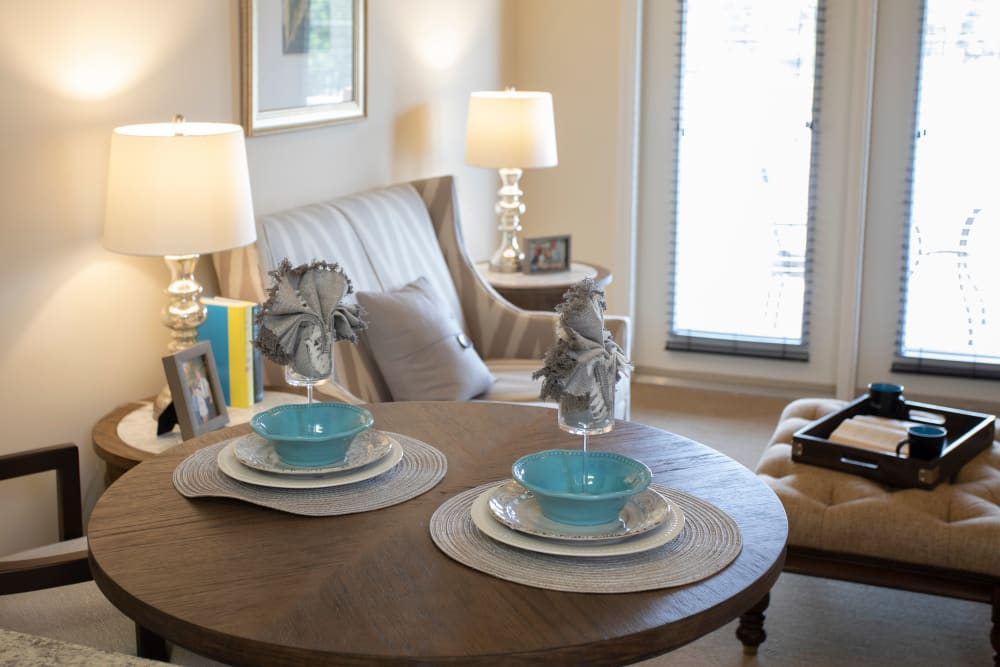 Apartment dining table at The Harmony Collection at Columbia in Columbia, South Carolina