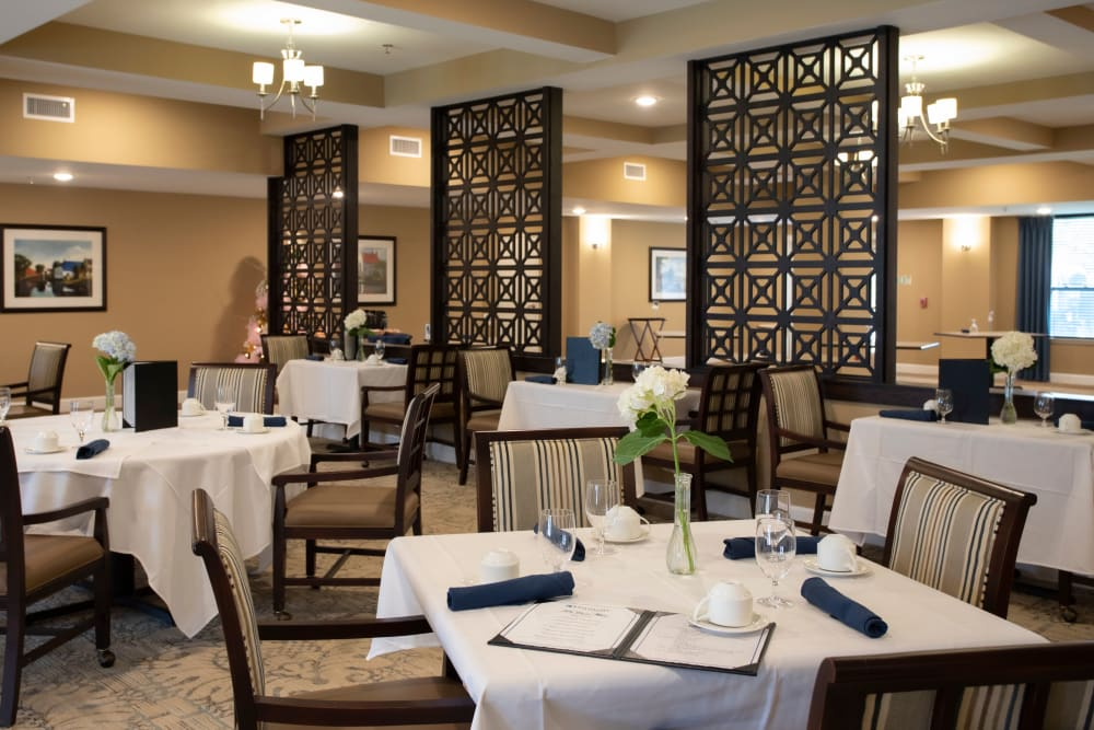 Dining room seating at The Harmony Collection at Columbia in Columbia, South Carolina