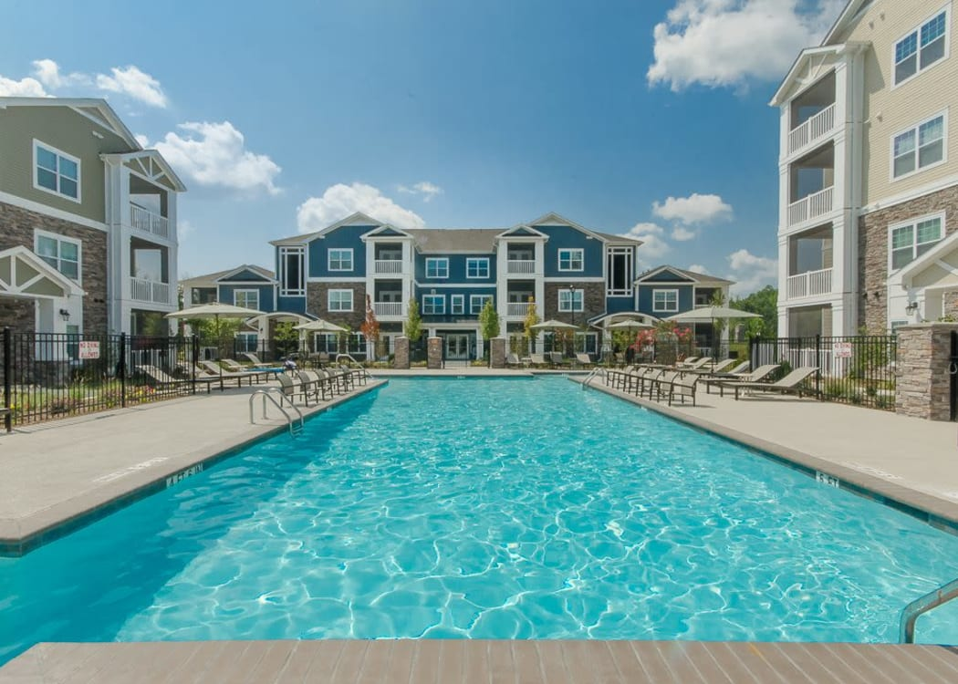 Fabulous resort style swimming pool at Oasis at Montclair Apartments in Dumfries, Virginia