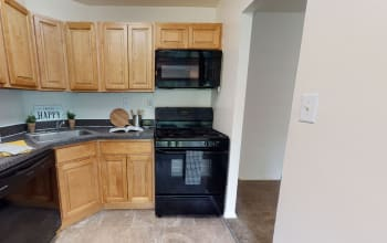 Virtual tour of a one bedroom apartment at Cedar Gardens and Towers Apartments & Townhomes in Windsor Mill, Maryland