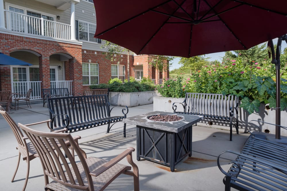 Patio at Harmony at Chantilly in Herndon, Virginia