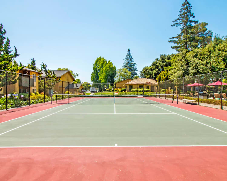 Well-maintained onsite tennis courts at The Landmark Apartment Homes in Sunnyvale, California