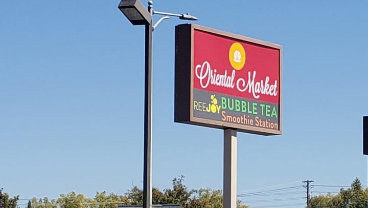 Oriental Market Sign Roseville CA