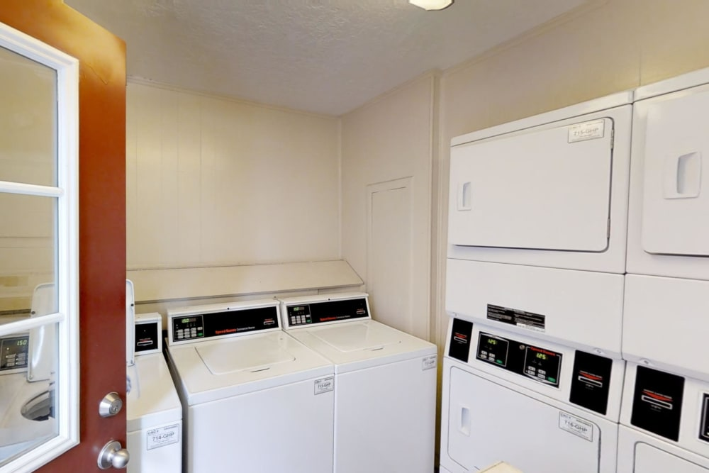 Laundry facility at Brookmore Hollow Apartments in Rosenberg, Texas