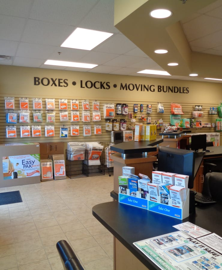 Packing supplies available at StorQuest Self Storage in Tallahassee, Florida