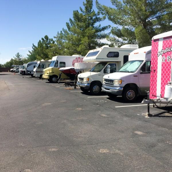 Outdoor RV parking at StorQuest Self Storage in Phoenix, Arizona