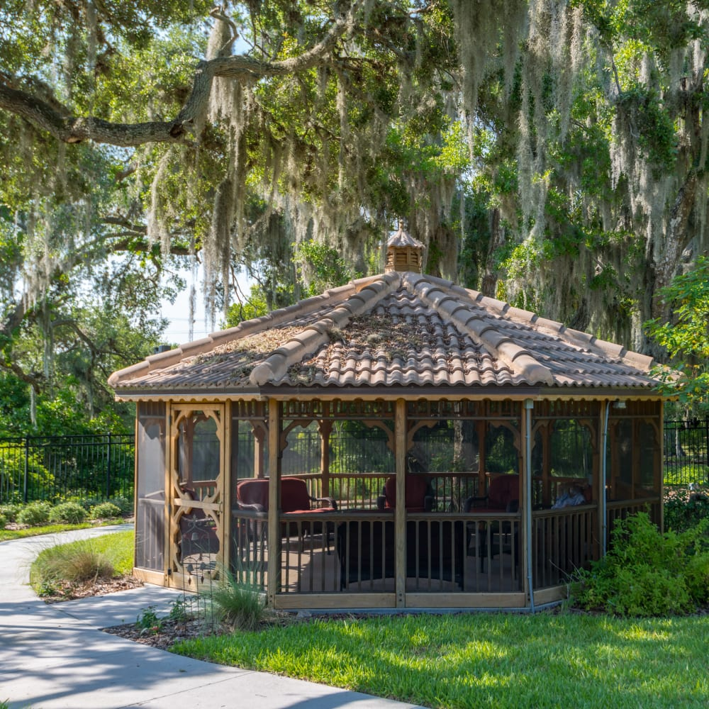Gazebo at Inspired Living in Sarasota, Florida.