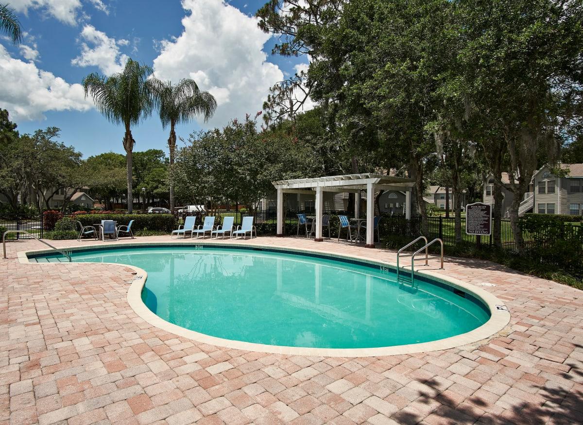 A relaxing pool at Avenue @Creekbridge in Brandon, Florida