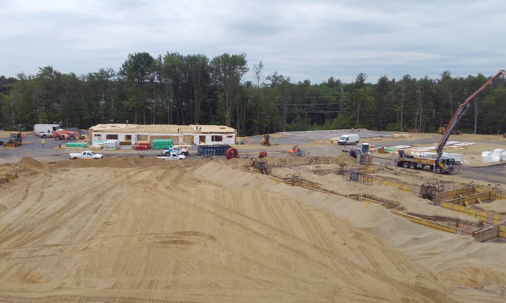 Big construction site at Enclave 50 in Ballston Spa, New York