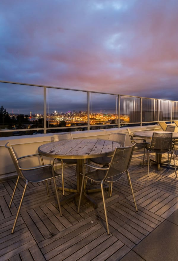 Rooftop view at Marq West Seattle in Seattle, Washington