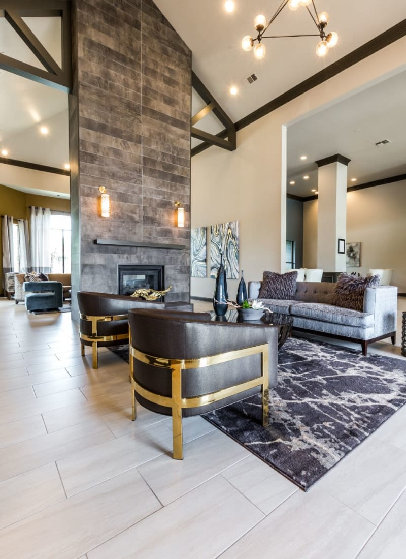 Modern and luxurious clubhouse at Marquis at Stonebriar in Frisco, Texas