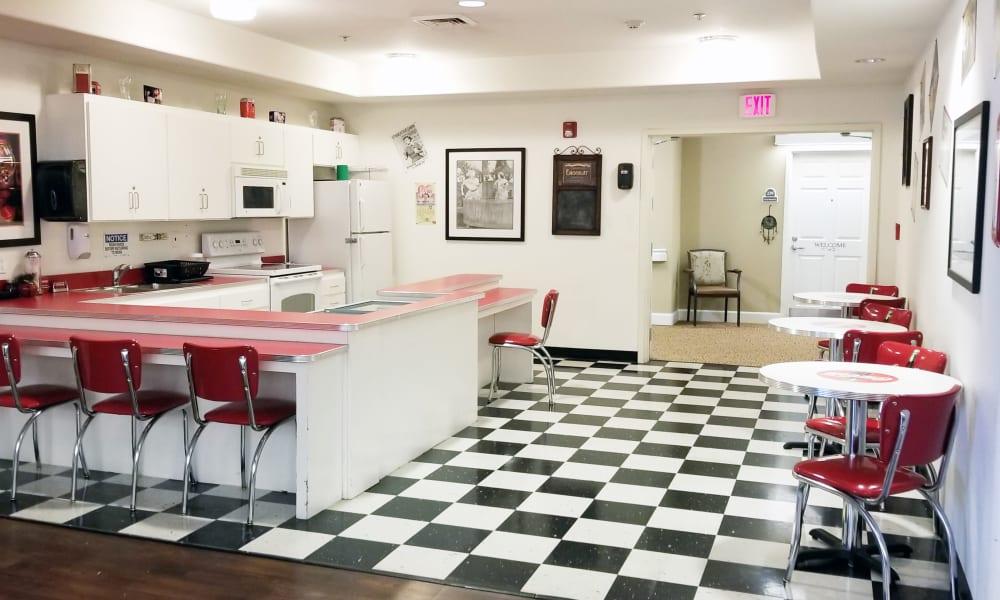 Dining area at Meadowlark Senior Living